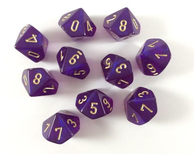 10d10 Borealis: Royal Purple/Gold - CHX27267 - Chessex