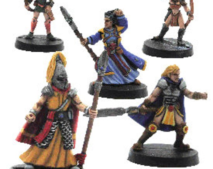 Backorder: Elfsera Adventures Miniatures Set #4 (5) Solid Pewter, Fully Painted - 40511 - Crystal Caste