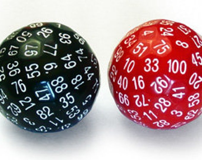 Unusual Dice - d100 Hundred-Sided Die