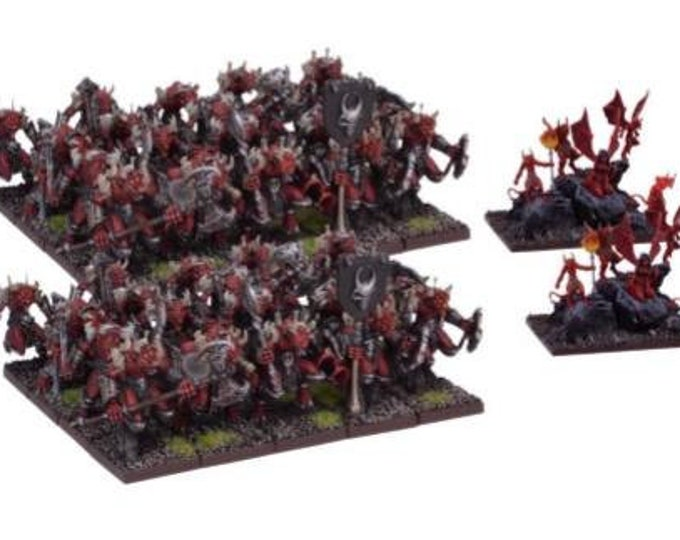 Kings Of War: (Forces Of The Abyss) Lower Abyssals Horde - Mantic Games