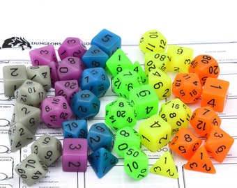 Besglo 7 Die Polyhedral Glow in the Dark Dice Set (Various Colors) - Purchasing Cooperative