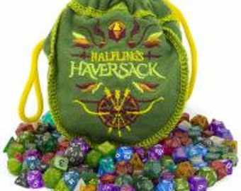 WizDice Halfling's Haversack (140 Mini Polyhedral Dice) - Purchasing Cooperative