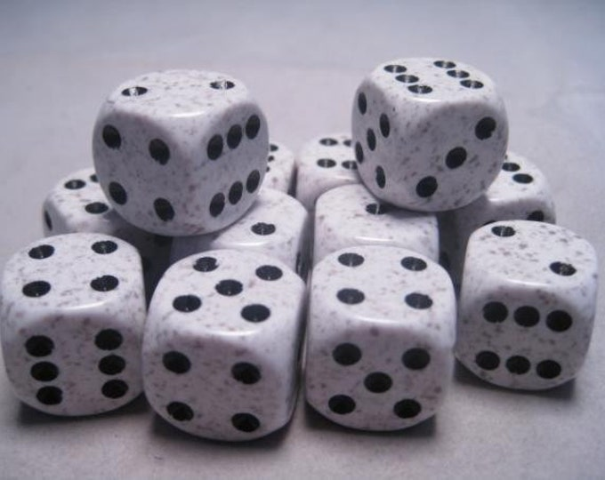 Arctic Camo Speckled 16mm d6 (12) - CHX25711 - Chessex