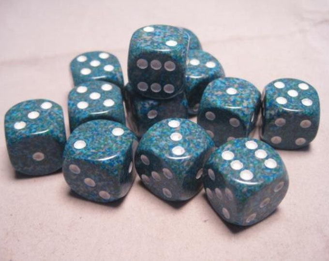 Sea Speckled 16mm d6 (12) - CHX25716 - Chessex