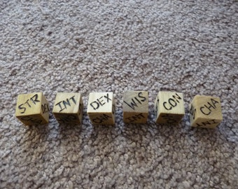 Wood Cut Dice - Random Statistic Die (D20/Dungeons and Dragons)