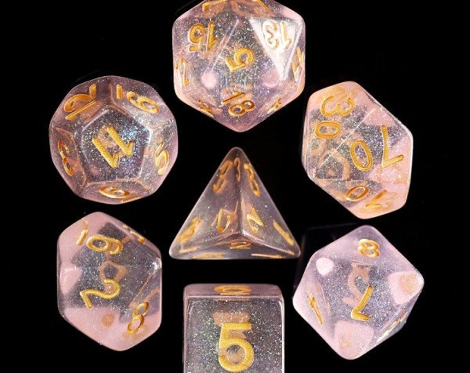 HDDice 7 Die Polyhedral Iridescent Dice Set (Pink) - Purchasing Cooperative
