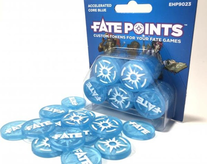 Fate Dice: Fate Points - Accelerated Core Blue - EHP9023 - Evil Hat Productions
