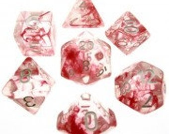 HDDice 7 Die Polyhedral Nebula Dice Set (Red) - Purchasing Cooperative