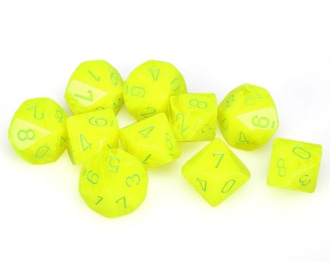 10d10 Vortex: Electric Yellow/Green - CHX27222 - Chessex