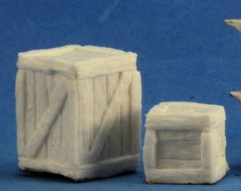 77248: Large Crate + Small Crate - Reaper Miniatures
