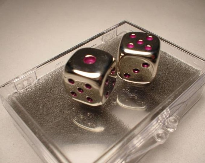 Metal Dice: Pair of Purple Pipped 16mm d6 (2)