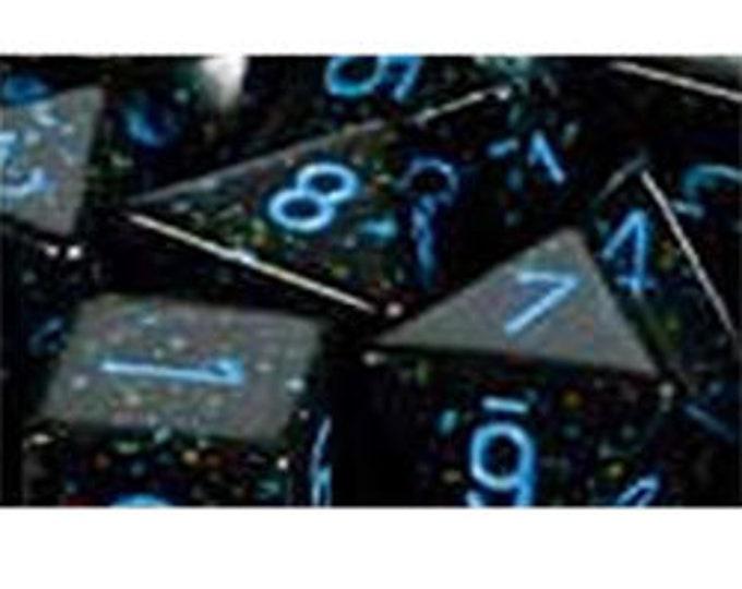 Blue Stars Speckled Polyhedral 7-Die Set - CHX25338 - Chessex