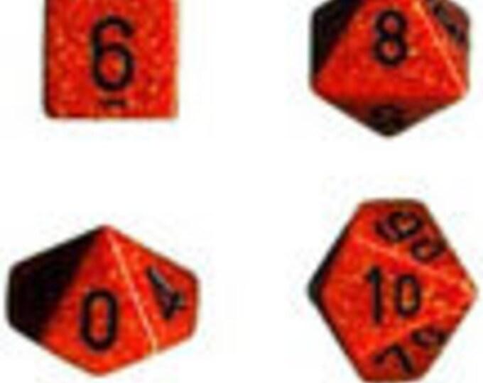 Fire  Speckled Polyhedral 7-Die Set - CHX25303 - Chessex