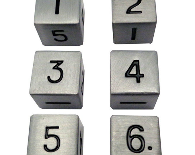 16mm d6 Metal: Antique Silver - MTD066 - Metallic Dice Games