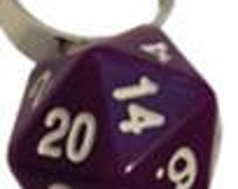 D20 Rings: Adjustable Purple Ring (One Size Fits Most) - MET9027 - Metallic Dice Games