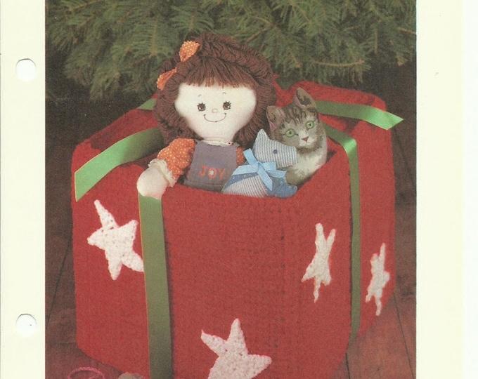 Gift box crochet pattern digital download