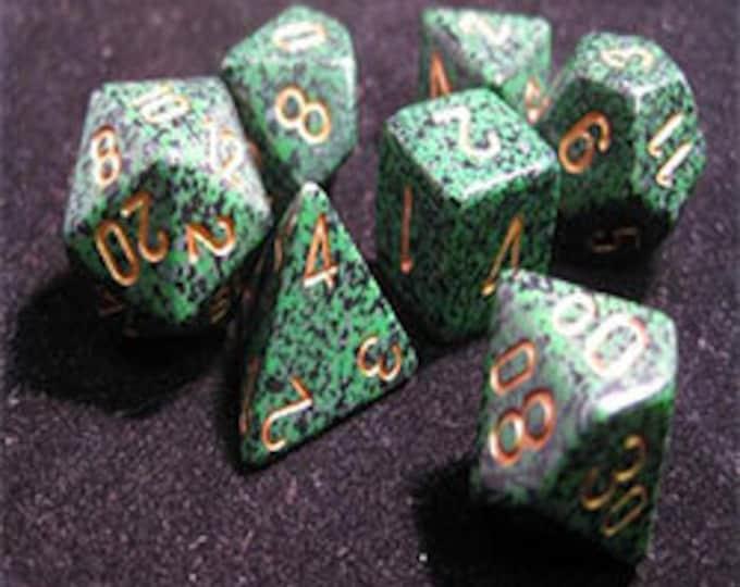Golden Recon Speckled Polyhedral 7-Die Set - CHX25335 - Chessex