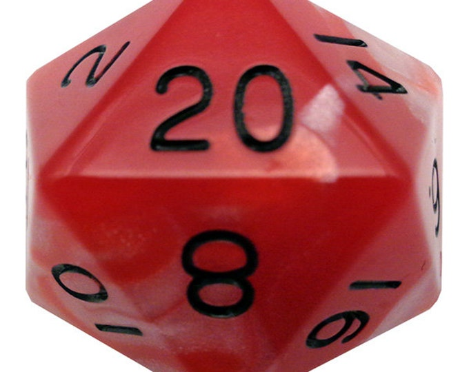 35mm D20 Combo: Red-White/Black - MTD11020 - Metallic Dice Games