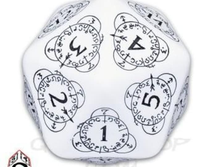 Exotic Dice: d20 White & Black Card Game Level Counter - Q-Workshop