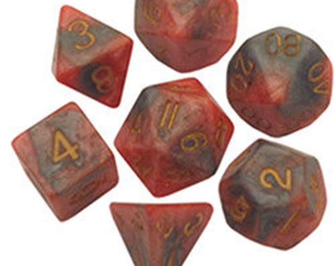 7-Die Set Combo: Orange-Brown/Gold - MTD149 - Metallic Dice Games