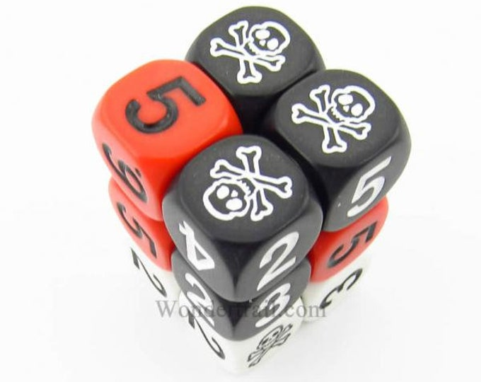 Novelty Dice: D6 Assorted Colors With Assorted Colored Numbers 16mm Box Of 12