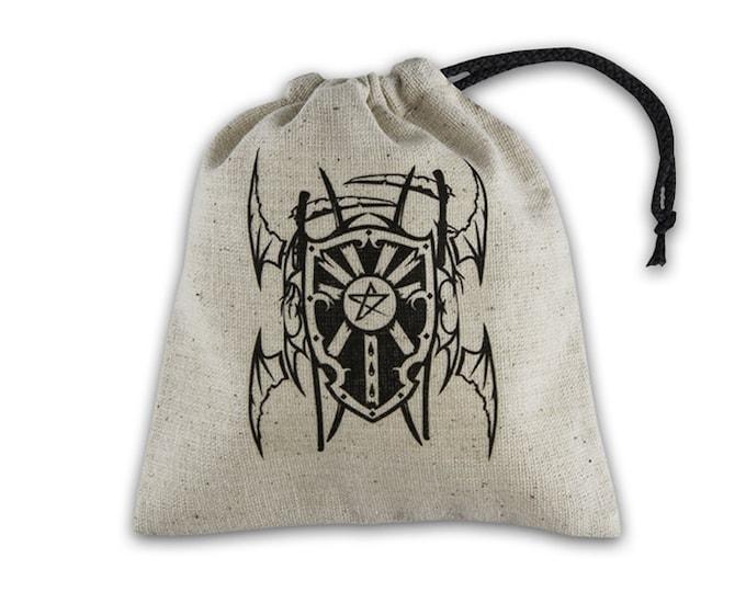 Dice Accessories: Vampire Beige & Black Basic Dice Bag - Q-Workshop