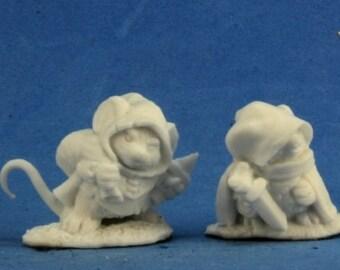 Mousling Sorcerer and Samurai - 77288 - Reaper Miniatures