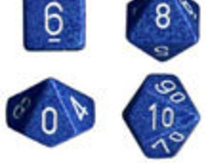 Water Speckled Polyhedral 7-Die Set - CHX25306 - Chessex