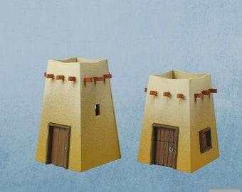 28mm Desert: Desert Command Post 04 - DESERT-04 - Plast Craft Games