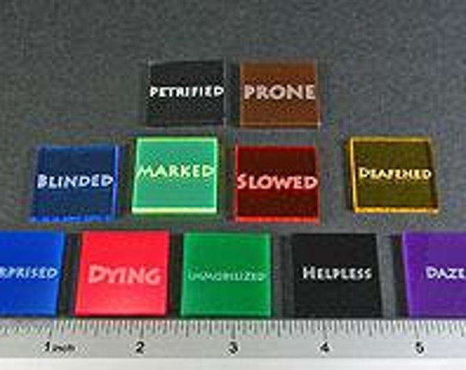 Fantasy RPG Condition Tokens, Players Set - LITKO Game Accessories