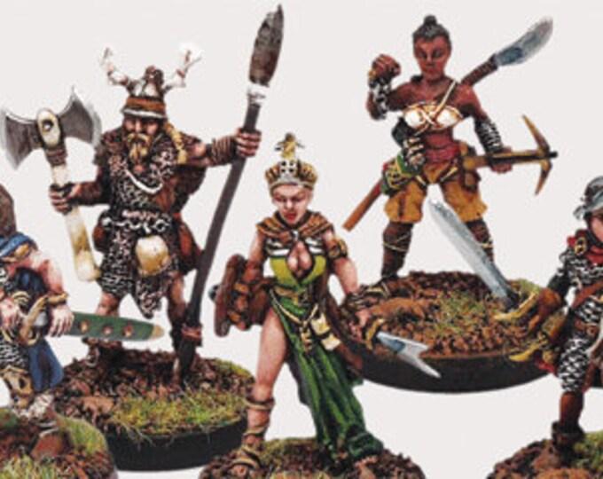 Elfsera Adventures Miniatures Set #2 (5) Solid Pewter, Fully Painted - 40511 - Crystal Caste