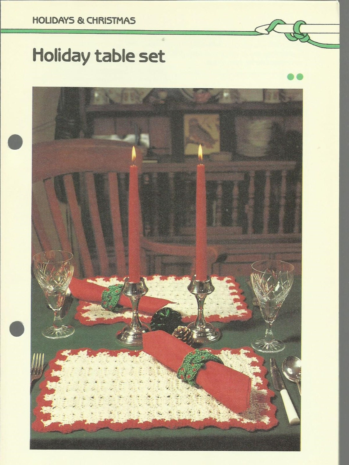 Christmas Placemat Patterns Simple Decorating