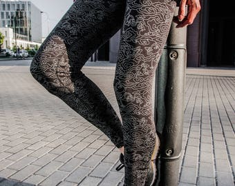 Leggins with designer print