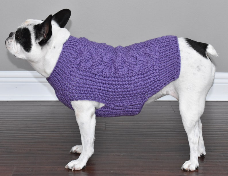 winter sweater cable knit sweater holiday sweater bulky sweater READY TO SHIP -French Bulldog Fit-  100/% wool sweater merino wool