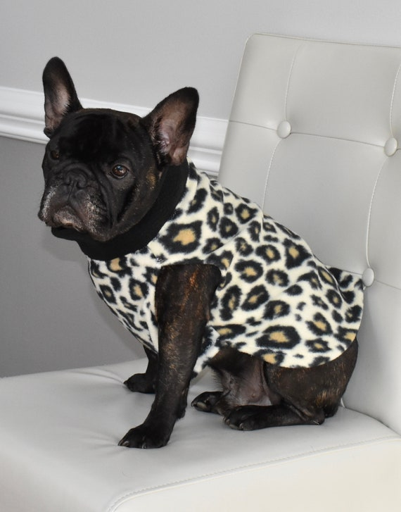 Jax /& Molly/'s Dog Pullover Sweater with Turtleneck Warm Sweater for Dogs Leopard Fleece Dog Sweater