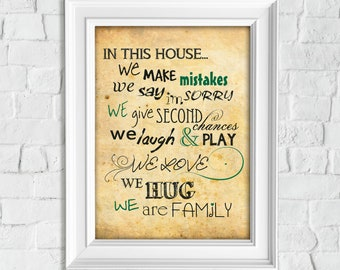 Modern House Rules Etsy