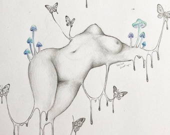 Weird Pencil Drawing Etsy