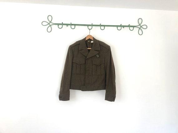 vintage us army cropped bomber jacket - 1950s mili