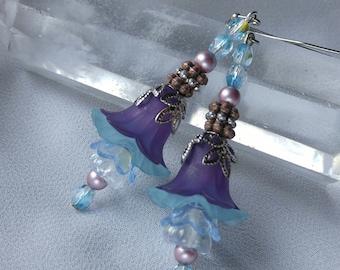 Evening Lilies - Flower Earrings