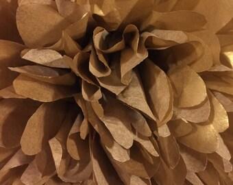 Set of 12 GOLD tissue paper pom poms/tissue poms/paper poms/paper flower/nursery poms/hanging poms/party pompoms-poms/pompoms/tissue pompoms