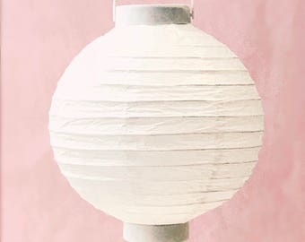 Paper Lantern / party decoration / paper lantern with light / illuminated paper lantern // tissue paper lantern /home decor,kids room decor