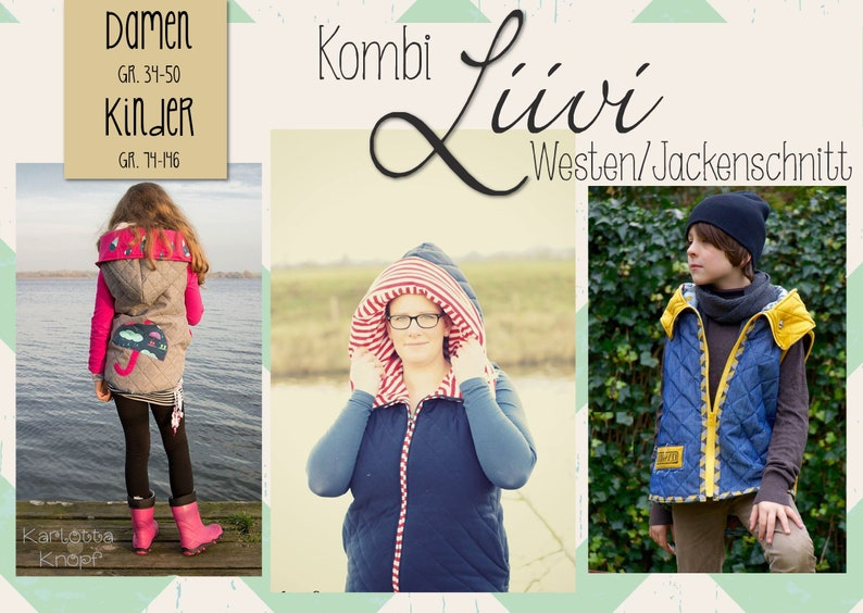 E-Book Steppweste/Jacke Liivi Kombi Kids & Damen image 0