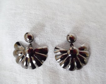 Gunmetal Grey Dangle Earrings