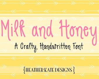 Handwritten Font Milk and Honey