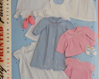 Simp 2900 Vintage /'52 Baby Layette and Bonnet Pattern