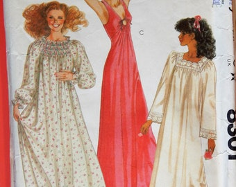 Vintage nightgown pattern McCall s 8301 Lingerie pattern to make three  different full length nightgowns Size medium (14 - 16) b1616d408