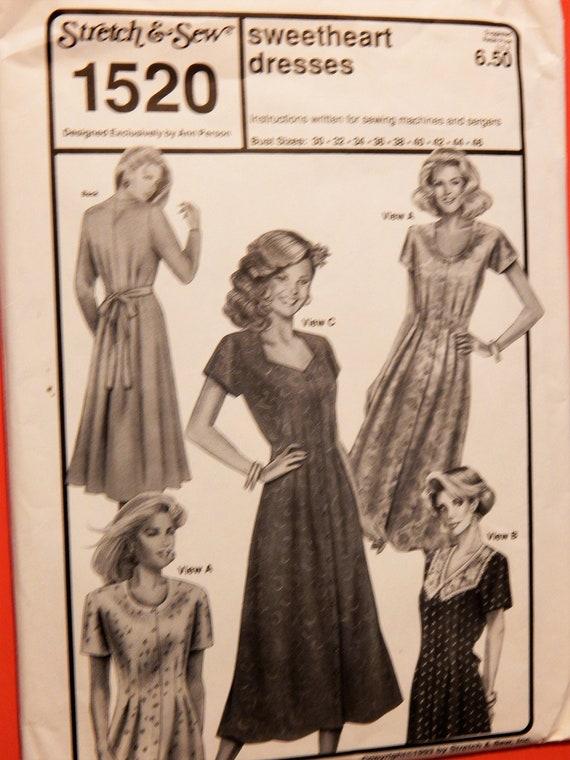 Vintage Kleid Stretch & Nähen 1520 liebste Kleider Muster mit | Etsy