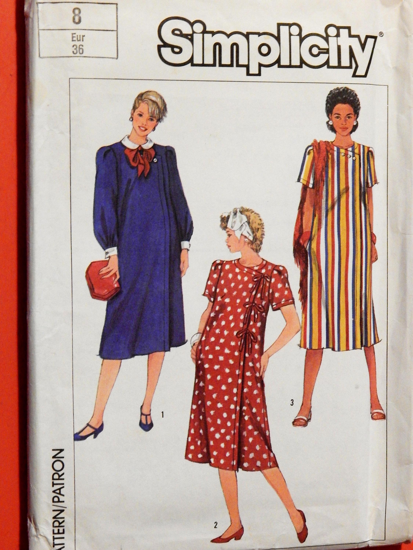 f1f83af161c8e Vintage maternity dress Simplicity 7568 Cute maternity dress | Etsy