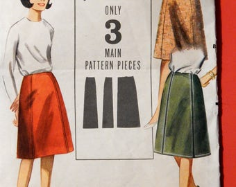 "Butterick 3509 Extra quick 'n easy skirt pattern 24"" waist"