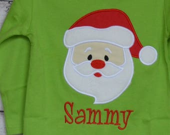 Santa Claus Applique Shirt or Bodysuit Boy or Girl